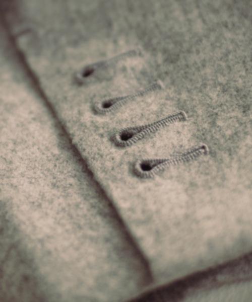 manche de veste boutonnière
