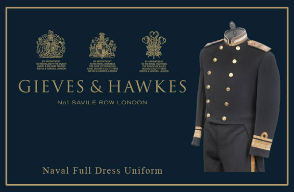 blazer gieves & hawkes royal navy