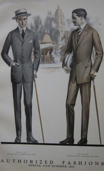 mode masculine 1915